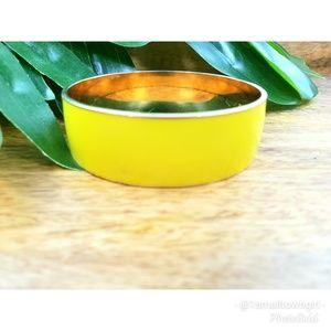 "J. Crew enameled metal yellow bangle 8 1/2"""